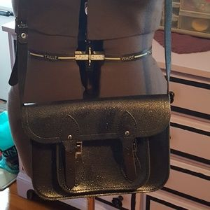 Cambridge Satchel Company glitter cross body bag